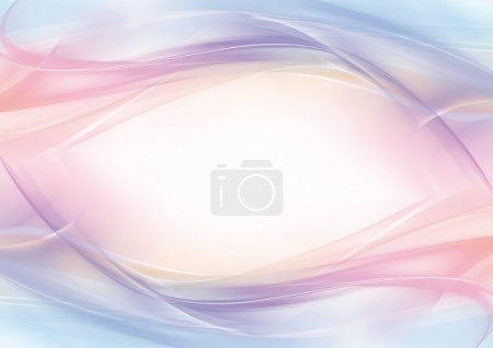 Photo for Abstract pink, blue, and white background with a frame in the shape of an eye - Royalty Free Image