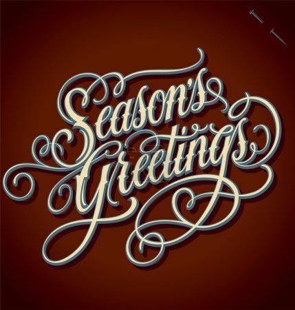 SEASON'S GREETINGS hand lettering (vector)