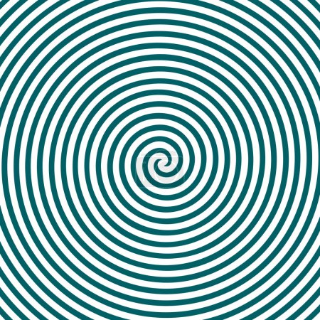 Illustration for Black and white hypnotic background. EPS 10. - Royalty Free Image