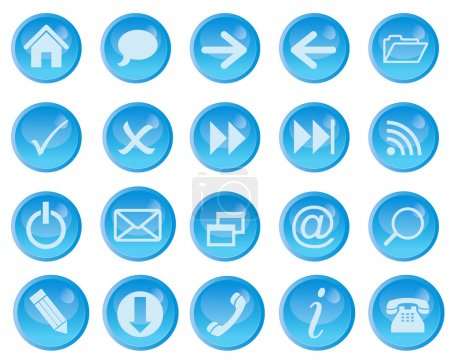 Illustration for Vector icon set for web. - Royalty Free Image
