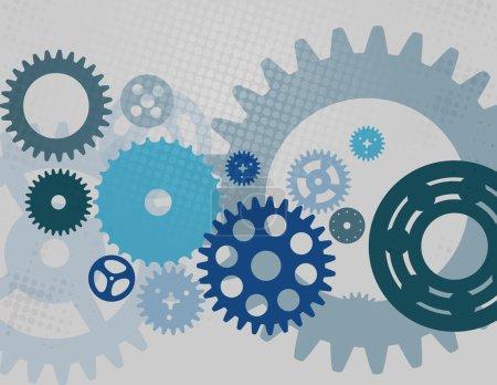 Illustration for Machine Gear Wheel Cogwheel pattern. Vector illustration. - Royalty Free Image