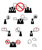 Human management icons set Vector illustration