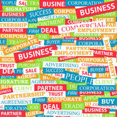 Seamless pattern which is composed of words on business themes