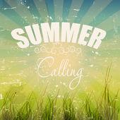 Summer holidays poster vector illustration