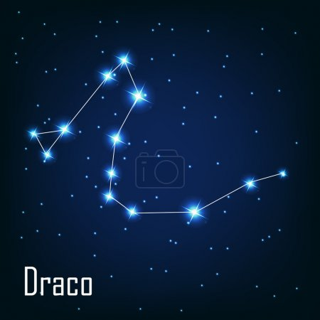 "The constellation "" Draco"" star in the night sky."