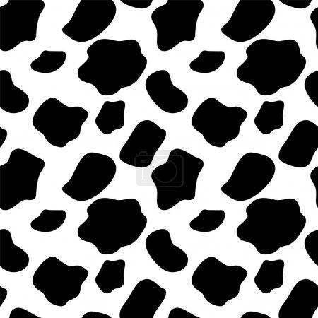 Illustration pour Illustration vectorielle de fond de motif sans couture de vache - image libre de droit