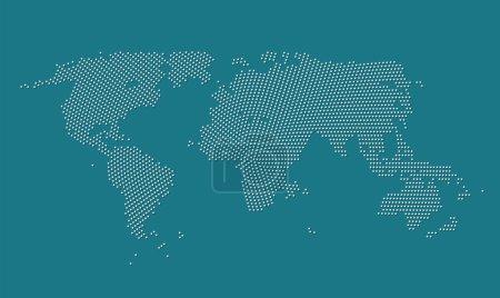 Illustration pour Illustration vectorielle de carte du monde - image libre de droit