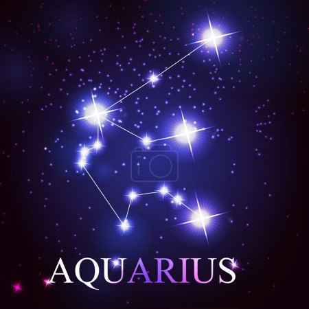 vector of the aquarius zodiac sign