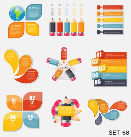 Illustration for Collection of Infographic Templates for Business Vector Illustration - Royalty Free Image