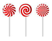 Striped candy vector illustration