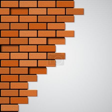 Illustration pour Un mur de briques. Vecteur EPS10 - image libre de droit