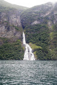 Norsko - bridal veil falls - geirangerfjord