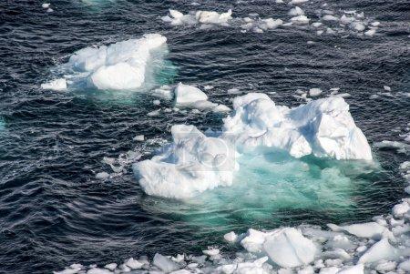 Photo pour Antarctique - Péninsule Antarctique - Changement climatique - Réchauffement climatique - Morceaux de glace flottante - image libre de droit