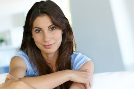 Photo for Portrait of attractive brunette woman - Royalty Free Image