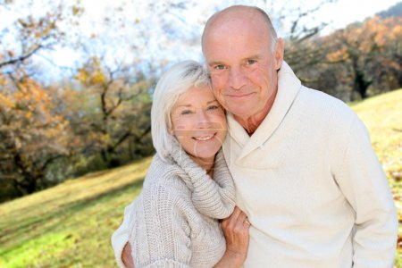 Photo for Closeup of senior couple in countryside - Royalty Free Image