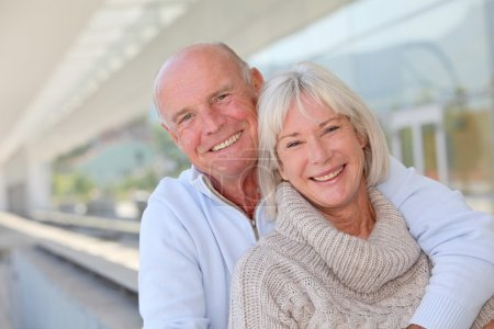 Photo for Portrait of smiling senior couple - Royalty Free Image