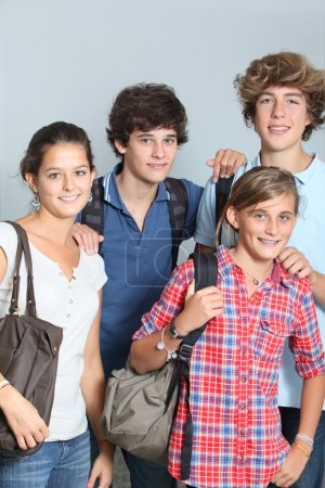 Group of high-school students