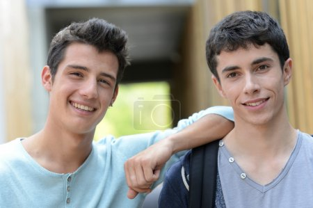 Photo for Portrait of smiling teenagers - Royalty Free Image