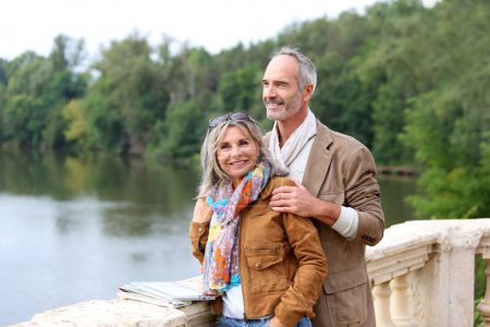 Photo for Senior couple of tourists on a trip - Royalty Free Image