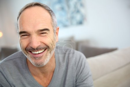 Photo for Portrait of happy handsome mature man - Royalty Free Image