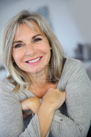 Photo for Portrait of happy mature woman - Royalty Free Image