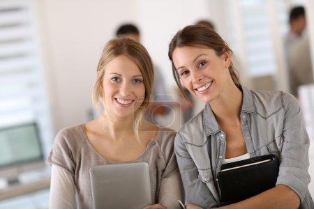 Student girls doing internship