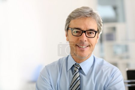 Businessman with eyeglasses