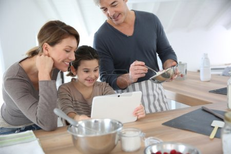 Family preparing pastry