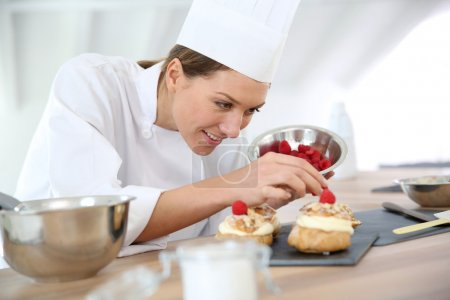 Chef preparing pastries