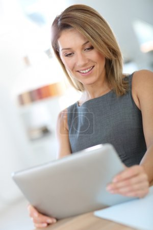 Businesswoman with difital tablet