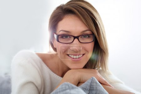 woman in stylish glasses