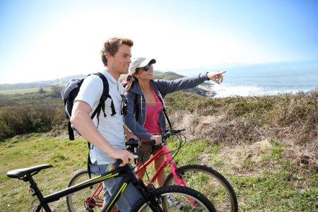 Couple on biking day