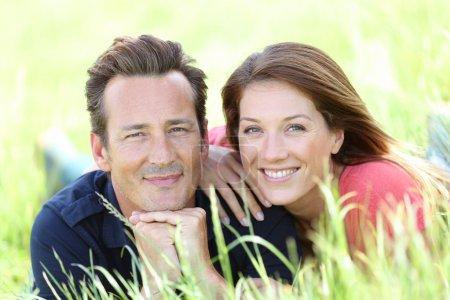 Lovely couple in field