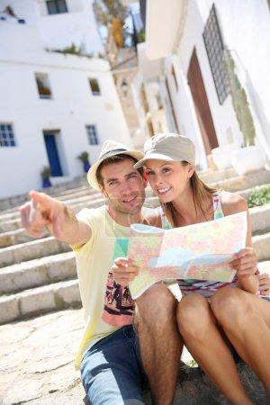 Tourists enjoying architecture