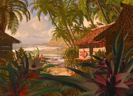 Polynesian Beach Hut