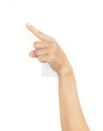 women hand sign.