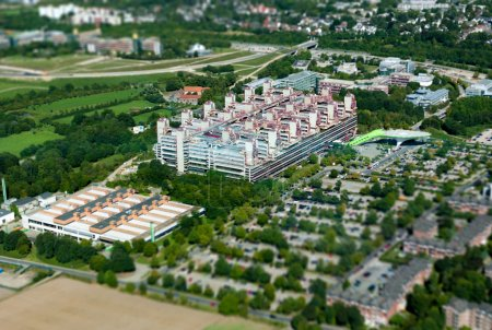 RWTH Aachen Hospital - aerial view