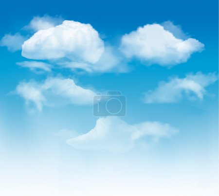 Illustration for Sky background with clouds. Vector. - Royalty Free Image