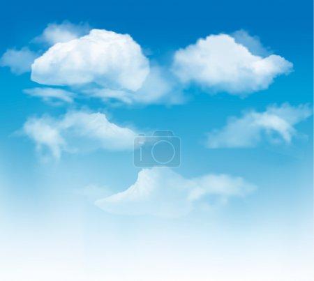 Illustration pour Fond de ciel avec nuages. Vector. - image libre de droit