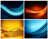 Set of business elegant colorful abstract backgrounds Vector illustration