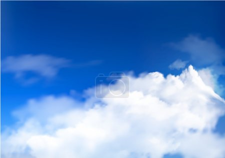 Illustration for Blue sky with clouds Vector background - Royalty Free Image