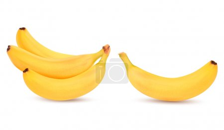 Illustration for Fresh bananas isolated on white. Vector - Royalty Free Image