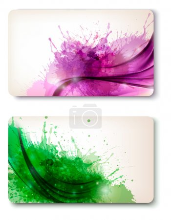 Illustration for Two colorful abstract business cards Vector - Royalty Free Image