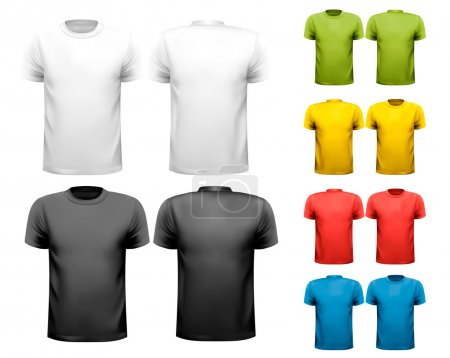 Colorful male t-shirts. Design template. Vector....