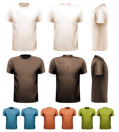 Illustration pour T-shirts masculins colorés. Modèle de conception. Vecteur. - image libre de droit