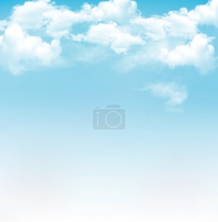 Illustration for Blue sky with clouds. Vector background - Royalty Free Image