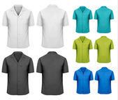 Set of white and black and colorful work clothes Vector