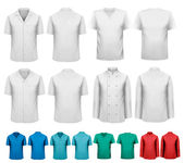 Set of white and colorful work clothes Design template Vector