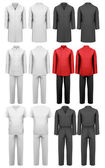 Set of various work clothes Vector illustration