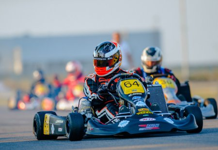 Unknown pilots competing in National Karting Championship